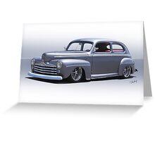 1947 Ford 'Rod and Custom' Sedan 1 Greeting Card