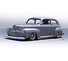 1947 Ford 'Rod and Custom' Sedan 1 Photographic Print