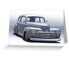 1947 Ford 'Rod and Custom' Sedan 2 Greeting Card
