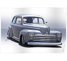 1947 Ford 'Rod and Custom' Sedan 2 Poster