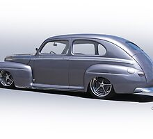 1947 Ford 'Rod and Custom' Sedan 3 by DaveKoontz