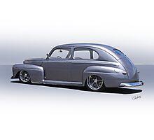 1947 Ford 'Rod and Custom' Sedan 3 Photographic Print