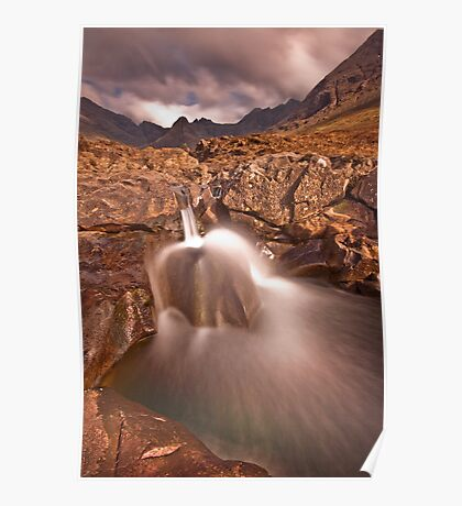 Waterfall at the fairy pools  Poster