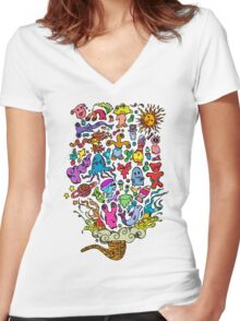 Space Gini Women's Fitted V-Neck T-Shirt