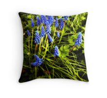 grape hyacinth Throw Pillow