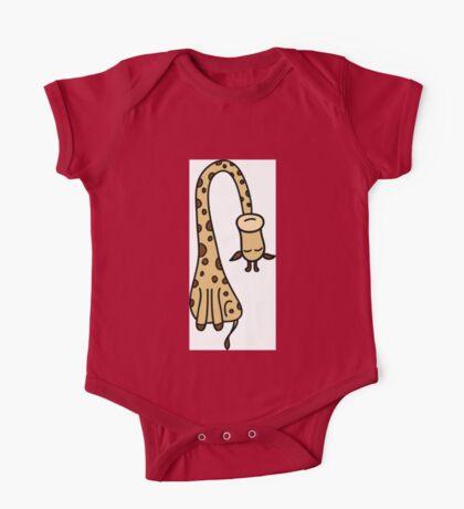 Cute and funny giraffe  One Piece - Short Sleeve