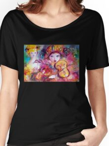 Arlecchino and Colombina / Venetian Masquerade Masks Women's Relaxed Fit T-Shirt