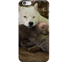 Arctic Wolf And Pups iPhone Case/Skin