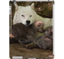 Arctic Wolf And Pups iPad Case/Skin