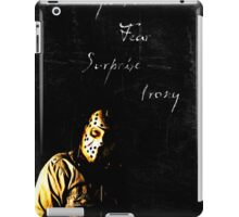 our weapons are fear, surprise, and irony iPad Case/Skin