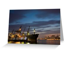 Sunset at the Inner Harbor Greeting Card