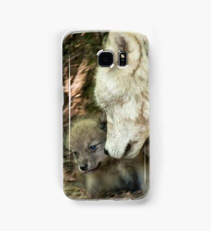 Arctic Wolf And Pups Samsung Galaxy Case/Skin