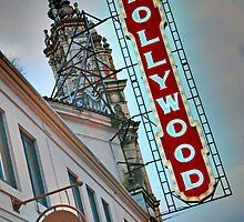 Hollywood Theater Neon Sign, Portland, OR by Jennifer Hulbert-Hortman