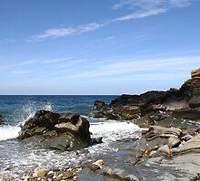 Shoreline at Glen Maye, Isle Of Man by Nick Barker