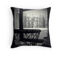 Bathroom Window Throw Pillow