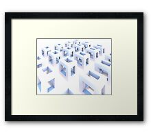 Cubes of the Fluorescent Expanse Framed Print