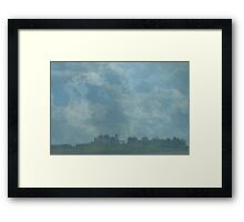 Rain Storm on The Prairies Framed Print