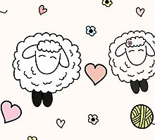Sheep in love by Wedphoto