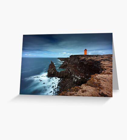 The orange Lighthouse Greeting Card