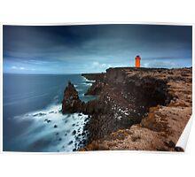 The orange Lighthouse Poster