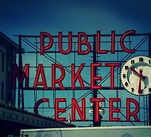 Pike Place Market Seattle Washington by Jonicool