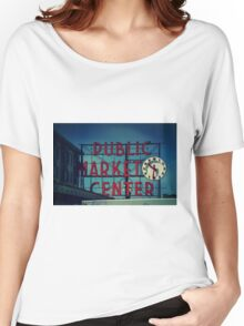 Pike Place Market Seattle Washington Women's Relaxed Fit T-Shirt