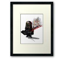 """ Lord Vader Reminiscing"" Framed Print"