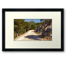 The Walk From Maro Framed Print