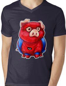 Spider-Pig Mens V-Neck T-Shirt