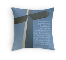 The Cross at the Crossroads (card) Throw Pillow