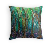 In The Bluebell Wood Throw Pillow