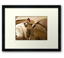 Bill in the Undercroft Framed Print