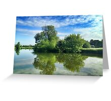 Thames River Reflection Greeting Card