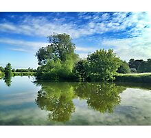Thames River Reflection Photographic Print