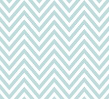 Zigzag Pattern, Chevron Pattern - White Blue by sitnica