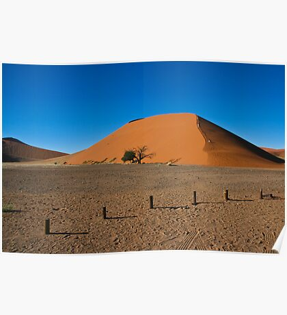 Climbing the Dune, Reaching the Sky Poster