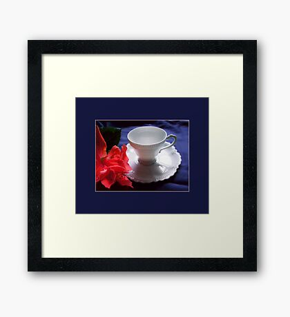 Demitasse, White Framed Print