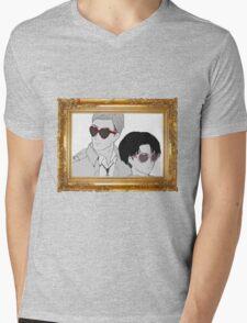 Glasses (framed) Mens V-Neck T-Shirt