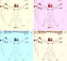 Warhol Vitruvian Man by Ednathum