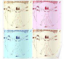 Warhol Vitruvian Man Poster