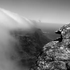 Table Mountain, South Africa - B/W by corder-courtier
