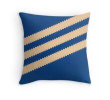 Adidas Blue Stripe  Throw Pillow