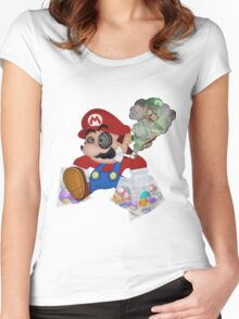 Mushed Mario Women's Fitted Scoop T-Shirt