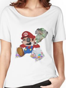 Mushed Mario Women's Relaxed Fit T-Shirt