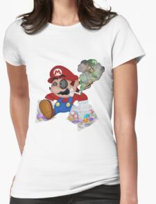Mushed Mario Womens Fitted T-Shirt