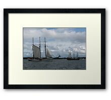 Tall Ships Sailing in the Harbor Framed Print