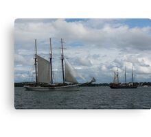 Tall Ships Sailing in the Harbor Canvas Print