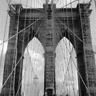 Brooklyn Bridge, New York, Perspective B/W by corder-courtier