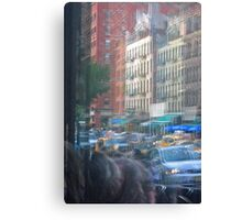Busy World Reflection Canvas Print