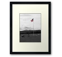I Pledge Allegiance to the Flag Framed Print